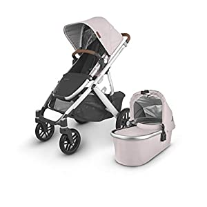 UPPAbaby-Vista-V2-Stroller-Alice-Dusty-PinkSilverSaddle-Leather-Mesa-Infant-Car-Seat-Jake-Black