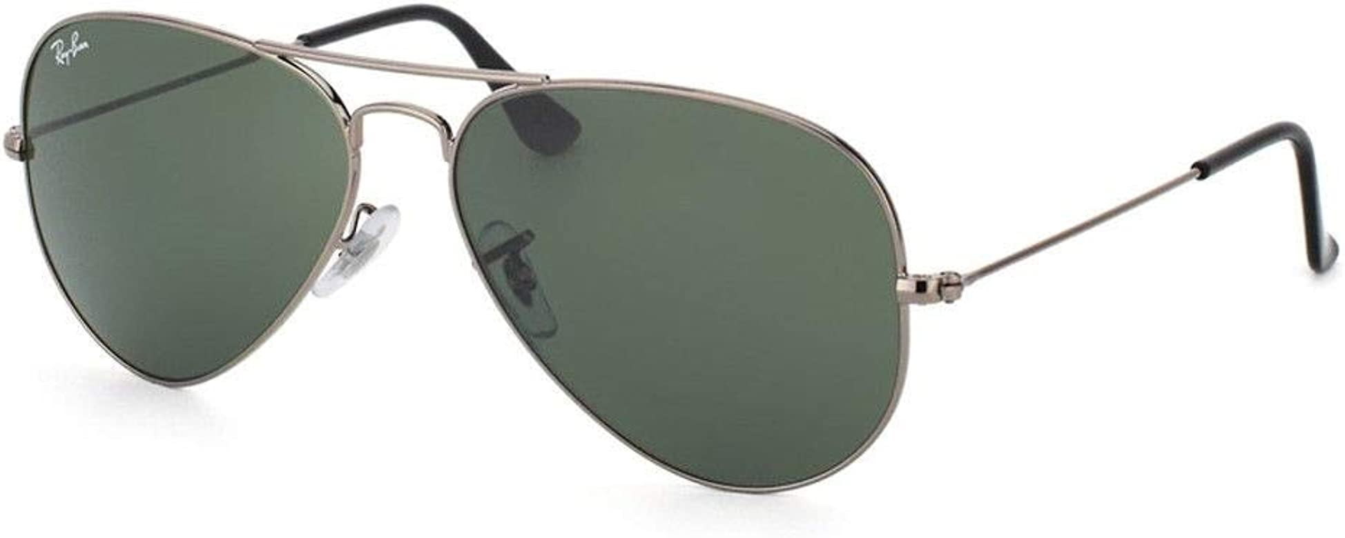 58bb85251 Amazon.com: Authentic Ray-Ban Aviator RB 3025 003/59 58mm Silver / Silver  Mirror Polarized: Clothing