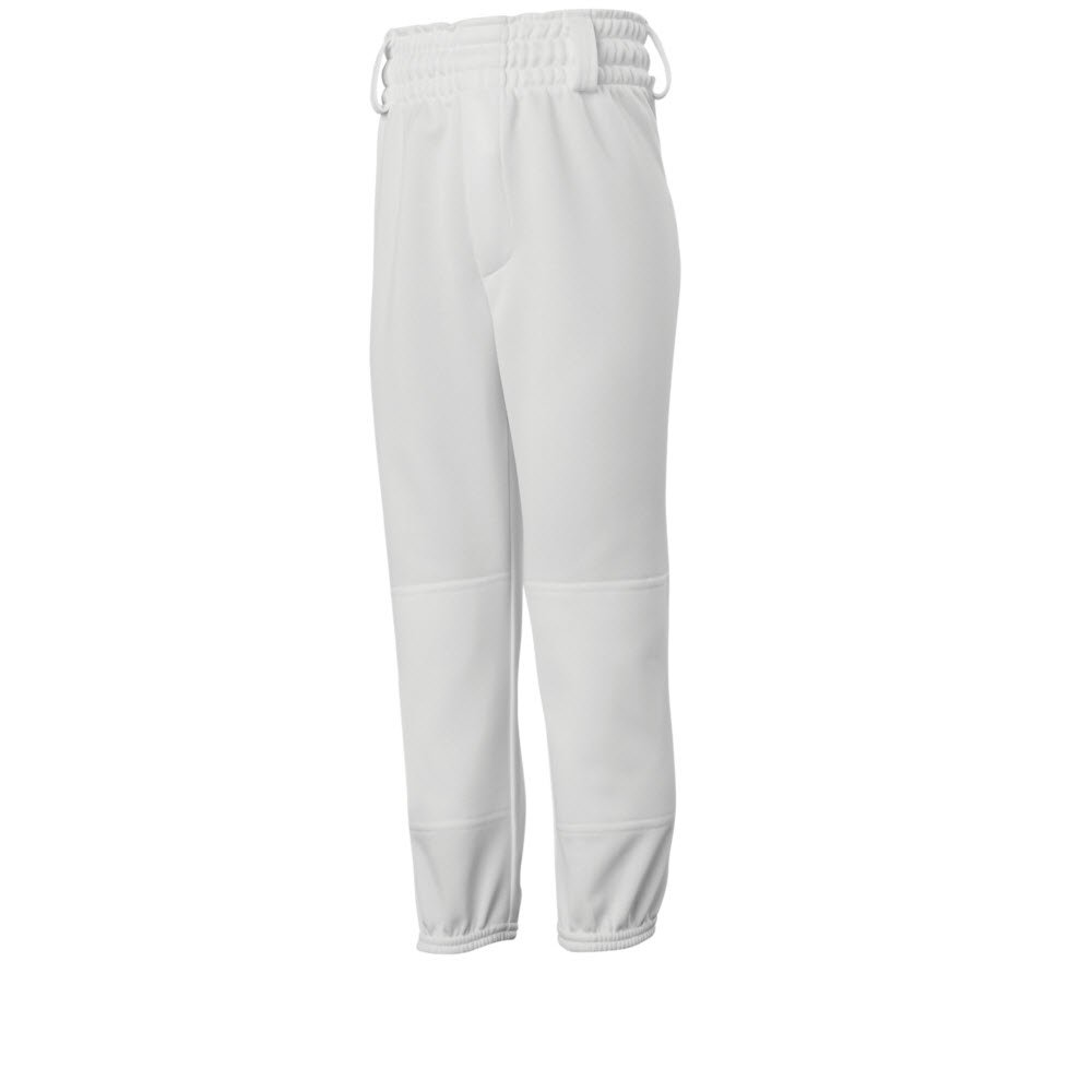 ミズノMVP Pull Up Youth Baseball Pant 350657 B074BW57R9 Medium|ホワイト ホワイト Medium