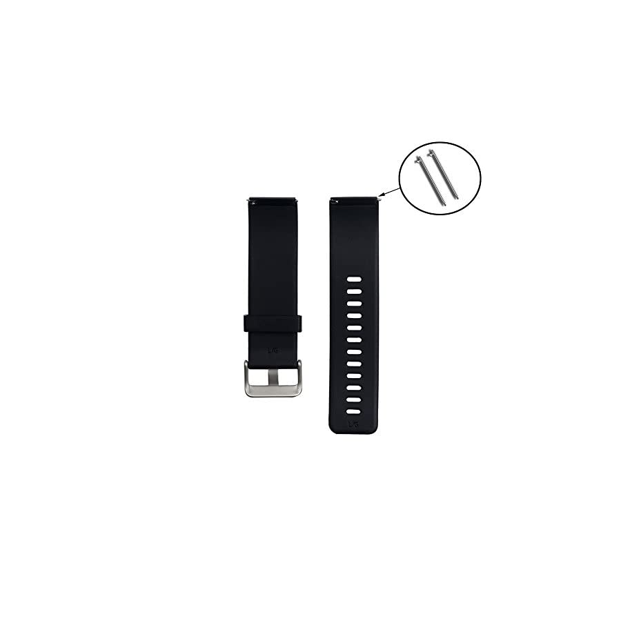 SCASTOE Replacement Rubber Wrist Band Strap Bracelet Watchband For Blaze Watch Black