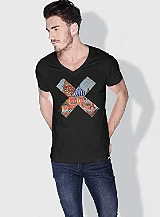 Creo Moscow X City Love T-Shirts For Men - L, Black