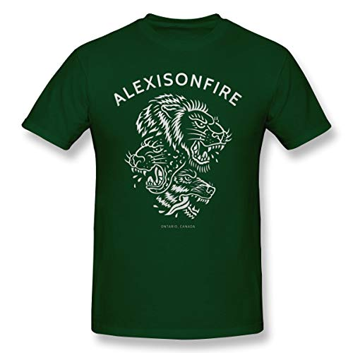 JiaoZhiduanxiu Men Alexisonfire Warmth Forest Green Shirts 6XL