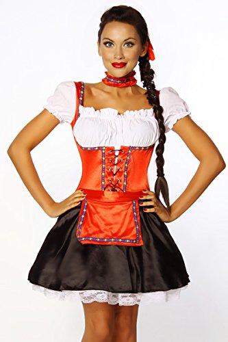 para Heels satén Zuecos de mujer Perfect negro blanco rojo CIrwtqrn