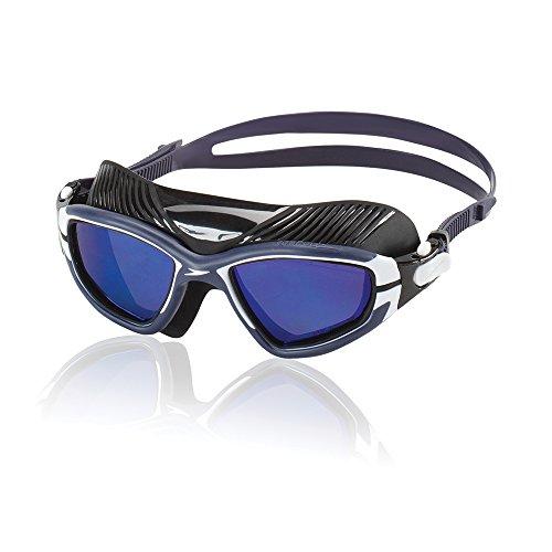 Speedo Charge Polarized Mask Swim Goggles, Black/Black, One Size