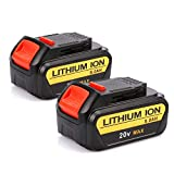 Powilling 2 Pack 20V 5.0Ah Replacement Lithium Ion Battery for Dewalt 20Volts Max