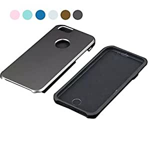 QJM Fashion Screensaver Two-in-One TPU&PC Back Cover for iPhone 6 Plus(Assotted Color) , Silver