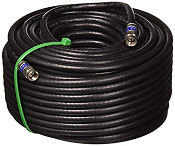 100ft Weather Seal Quad Shield Outdoor 3GHZ RG-6 Coaxial Cable 75 Ohm (Satellite TV or Broadband Internet) Anti Corrosion Brass Connector RG6 Fittings Assembled in USA by PHAT Satellite INTL