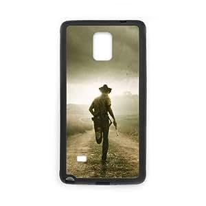 901 The Walking Dead L funda Samsung Galaxy Note 4 caja funda del teléfono celular del teléfono celular negro cubierta de la caja funda EEECBCAAJ08249