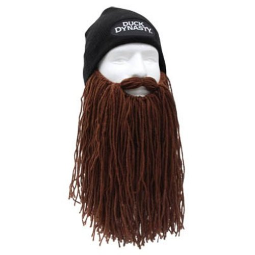 Beard Head Duck Ruddy Black Long Beard Beanie, Brown, One (Duck Dynasty Mens Jase Costumes)