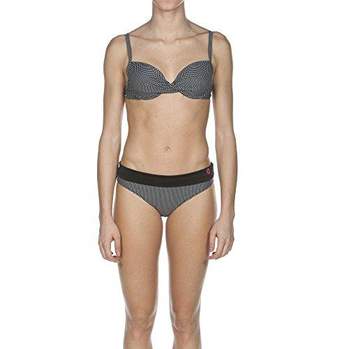 Arena - Bikini para mujer Polkadots Twisted Wire negro/negro