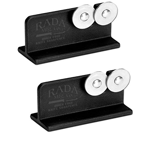 Rada MFG Rada Cutlery Quick Edge Knife Sharpener with Hardened Steel Wheels, 2 Pack - Edge Spoon Knife