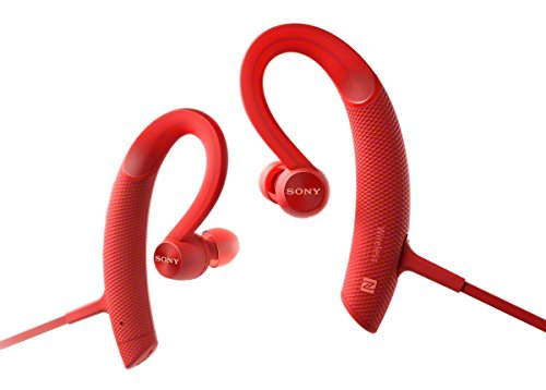 Sony MDRXB80BS/R Premium, Wireless, In-Ear, Sports Headphone, Red