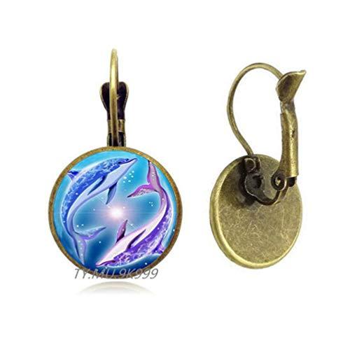 Yao0dianxku Dolphin Earrings,Dolphin Jewelry,Large Dolphin Earrings,Dolphin Stud Earrings,Charm Earrings,Dolphin Charm.Y049