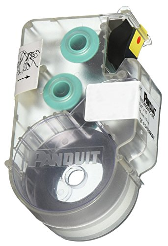 Panduit Label Cassette (Panduit T038X000FJC-BK P1 Cassette Continuous Tape Label, Polyolefin,  White/Black)