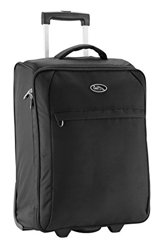 Palma Lightweight Trolley cabin luggage suitcase 55 x 40 x 20 (Black)
