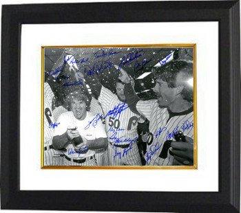 Greg Luzinski Signed Philadelphia Phillies 16x20 Photo Framed Photo - 1980 World Series Team B&W 21 Signature 1983 Photo