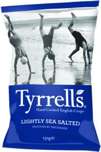Tyrrell's Hand Fried Potato Chips, Lightly Sea Salted, 5.29-Ounce Bags (Pack of (Lightly Salted Chips)
