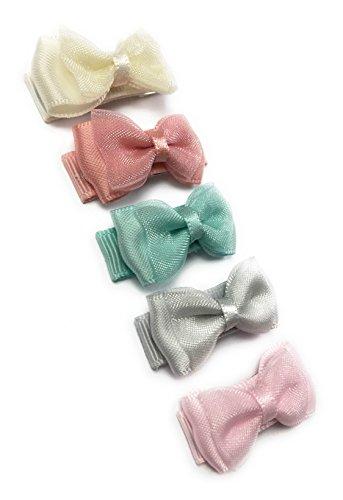 Baby Wisp 5 Tiny Organza Hair Bows Baby Girls Toddlers - Baby Ballerina Gift Set