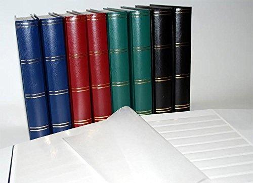 - Prophila Lighthouse stockbook Stamp Album (New) 60 White Sides, Padded Blue Cover