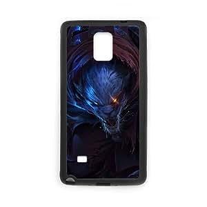 League Of Legends Night Hunter Rengar Funda Samsung Galaxy Note 4 Funda caja del teléfono celular Negro H6R4XB Protective Hard Case