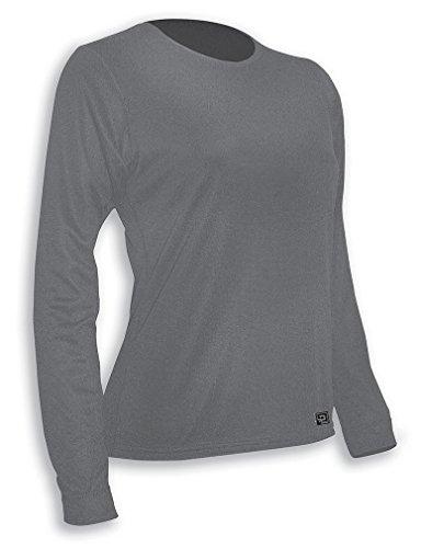 Free Polarmax Double Base Layer Crew Shirt, Dove, Small