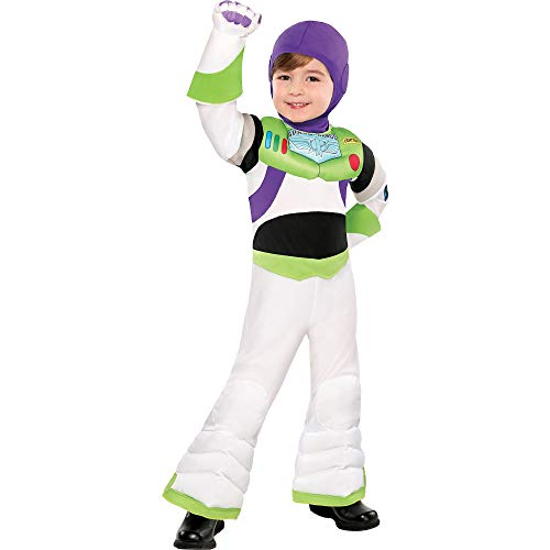 (Party City Toy Story Buzz Lightyear Halloween for Toddler Boys, 3-4T, with Included)