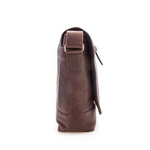 Zerimar Aktentasche Herren-Schultertasche Akten Schulter aus hochwertigem Rindsleder Leder Mehrere Fächer leder Tasche pracktisch aus echtem Leder Grösse: 30x39x9 Braun lmF7hIFoZO