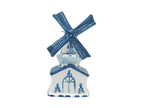Blue and White Ceramic Windmill House ()