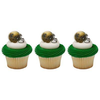 (Decopac NFL New Orleans Saints Cupcake Rings)