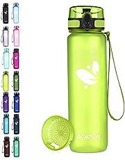 AORIN Sport waterfles - 350ml/500ml/750/1L, Tritan Gym Fles BPA Free & Drinkflessen, Lekvrij, One Click Flip Deksel/Kinderen, Volwassenen, Gym, Outdoor Sport (1000ml-32oz, Lime)