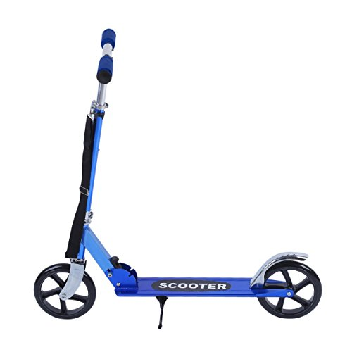 Detectoy Outdoor Folding Kick Scooter for Adults Kids, PU Wheel Aluminum Scooters, Height Adjustable Exercise Scooter by Detectoy