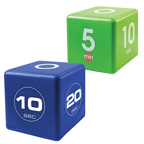 Miracle Cube Timer, Fit TimeCube Combo, 10, 20, 30, 60 Seconds and 1,5,10,15 Minutes
