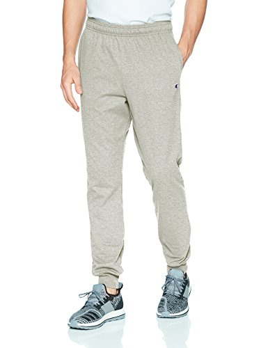 Champion Men's Jersey Jogger, Oxford Gray, L