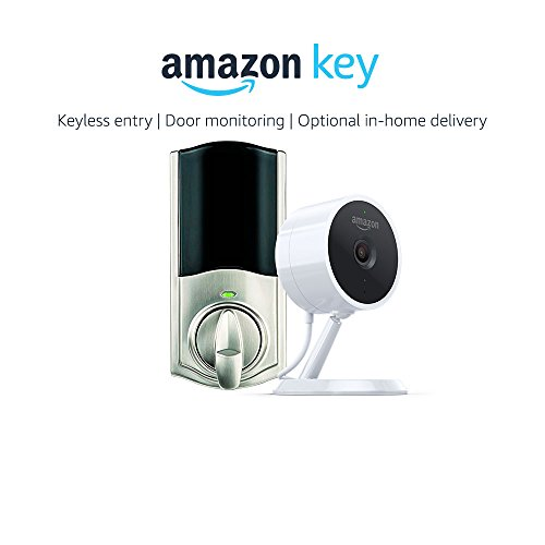 Kwikset Convert Smart Lock Conversion Kit in Nickel + Amazon Cloud Cam, Works with Amazon Key