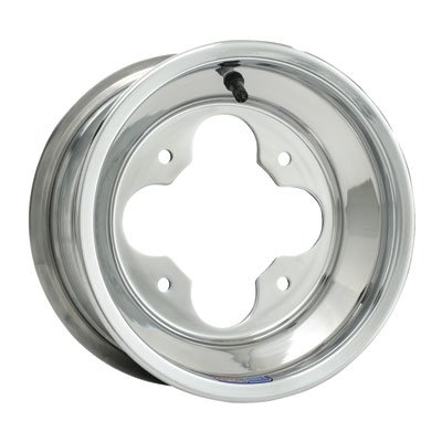 4/110 Douglas A5 Wheel 9X8 3.0 + 5.0 Polished Aluminum for Kawasaki KFX 400 2003-2006