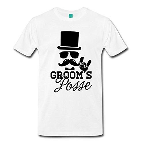 Poppylife Groom Wedding Print Soft Cotton White T shirt,3XL by Poppylife