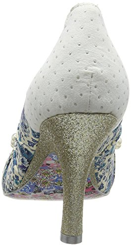 Irregular Choice Mujeres Pearly Girly Textile Zapatos Blanco