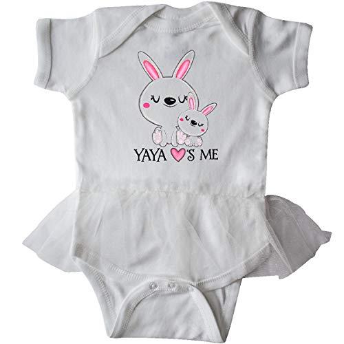 inktastic - Yaya Loves Me- Bunny Infant Tutu Bodysuit 12 Months White -