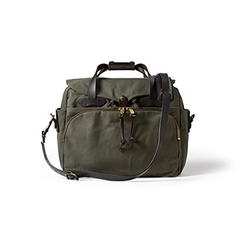 Filson Twill Padded Laptop Briefcase Otter Green, One Size ()