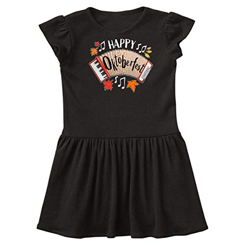 inktastic - Happy Oktoberfest- Accordian Toddler Dress 2T Black 321a2