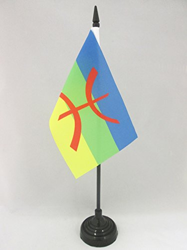 AZ FLAG Drapeau de Table Kabylie 15x10cm