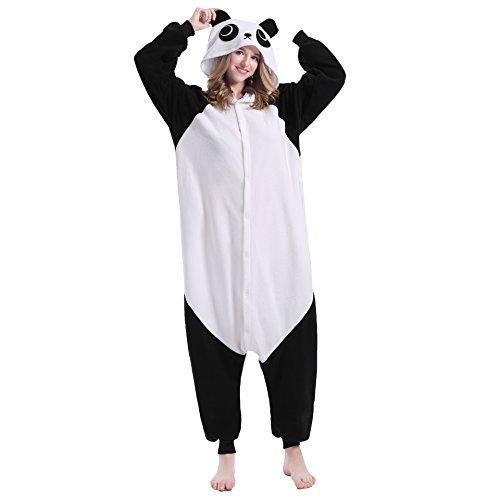 Sweetdress Unisex Panda Pyjamas Halloween Onesie Cosplay Costume Pajamas (X-Large, Panda) -