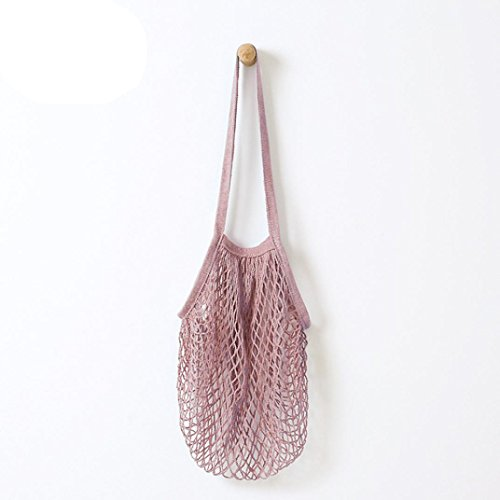Reusable Fruit String Grocery Shopper Bag Cotton Tote Mesh Woven Net Shoulder Bag (Hot ()