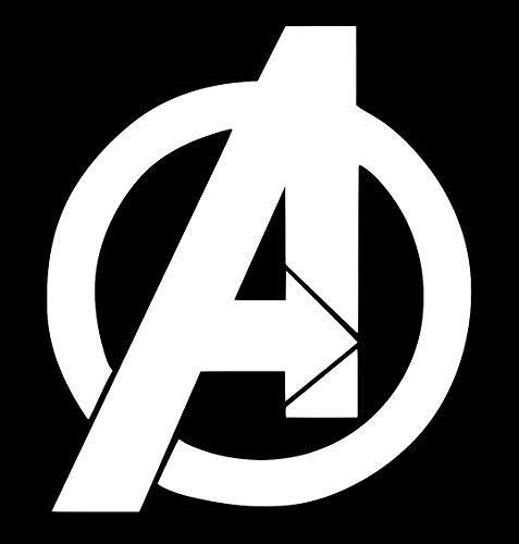 Avengers Logo Decal Vinyl Sticker|Cars Trucks Walls Laptop|WHITE|5.5 (Avengers Custom Invitations)