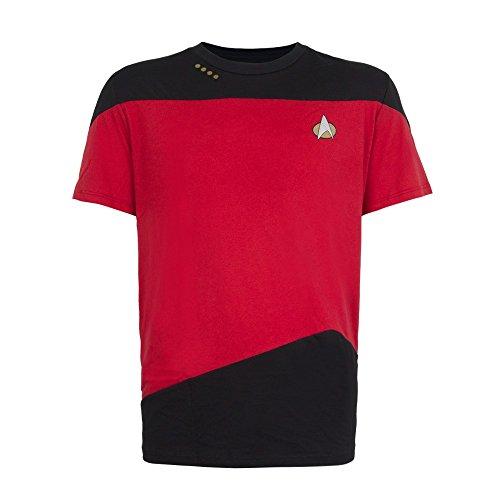 Next Star Generation Costume Trek (Command Red Paneled Uniform -- Star Trek: The Next Generation T-Shirt,)