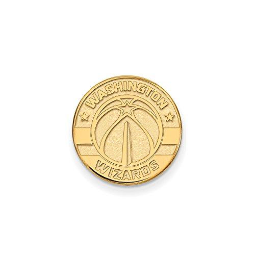 NBA Washington Wizards Lapel Pin in 14K Yellow Gold by LogoArt