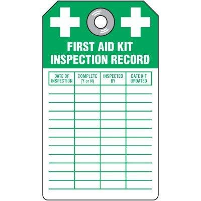 First Aid Kit Inspection Tag by Emedco