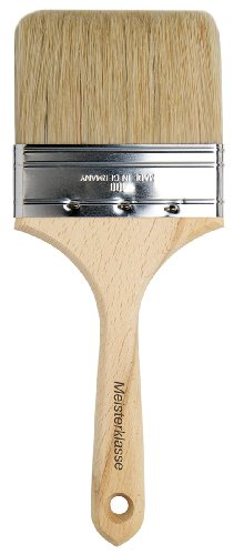 Flat Varnish Brush (da Vinci Varnish & Priming Series 2410 Lacquering Brush, Six Fold Thickness Flat Hog Bristle with Plainwood Handle, Size 100 (2410-100))