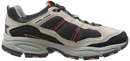 Skechers Sport Mens Vigor 2.0 Trait Memory Foam Sneaker, Taupe/Black, 10 XW US