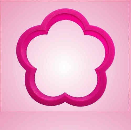 Pink Flower 5 Petal Cookie Cutter
